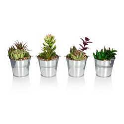 «Металлическое ведерко с растениями»
