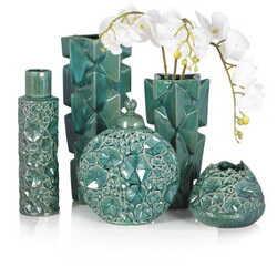 «Набор керамических изумрудных ваз»